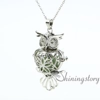 owl heart openwork diffuser necklace diffuser necklaces whol...