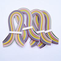 DIY 36colors 180 Stripes Quilling Paper Assorterad Färg Origami Papperslängd 54cm Handgjorda konstverk Blommaffärer