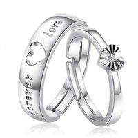 Liebespaar Ring Eröffnung kreativer Forever 925 Sterling Silber Diamant