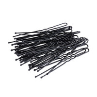 300 Pz / set U Shape Bobby Pins Clip di capelli neri Donne Forcelle No Slip Grip Thin Bobby Pins Hold Back Bangs Pin capelli riutilizzabili