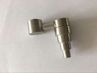 Sek wholesale 6 in 1 10mm 14mm 18mm 남성과 여성 Banger 티타늄 네일 SILIKA SIDE ARM DOMELESS TITANIUM NAILS 무료 배송 DHL