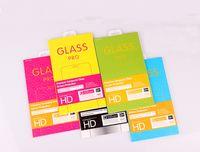 Papel de embalagem Caixa de tela do telefone móvel de vidro temperado Protector para iPhone Embalagem Caixa com Hanger