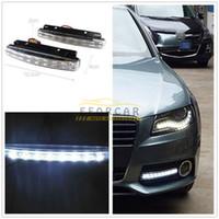 Işık Kafa Lambası DRL Daylight Seti Ücretsiz Kargo Running Beyaz 8 LED 12V Araç Gövde Gündüz