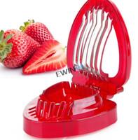 جديدة وعالية الجودة الفراولة القطاعة الحلويات الفولاذ المقاوم للصدأ بليد ببساطة شريحة الفاكهة قطع سكين 10PCS