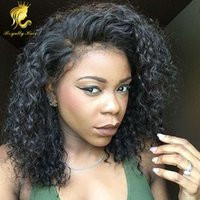 Lace Front Human Hair Wigs Pre Plucked With Baby Hair Curly ...
