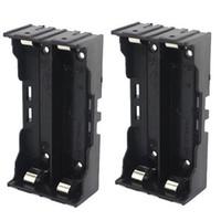 2×3.7V 18650電池4ピンバッテリーホルダーケースパラレル接続18650バッテリーパックブラックカラー