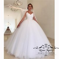 Gothic White Ball Gown Lace Wedding Dresses 2019 Corset Plus...