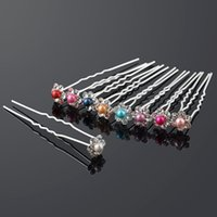40 unids \ lot boda nupcial perla flor cristalino diambrene de diamantes de imitación clips de dama de honor desgaste de cabello u selección de joyería de tiara accesorios para el cabello 8 colores