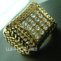 Heren 18K goud gevuld geschapen diamant engagement trouwring R105 maat 8-15