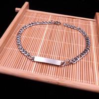 HOT 10PCS Spot Partihandel ID Armband Rostfritt Stål Silver Figaro Kedja Bra kvalitet Armband för att skicka till vänner Frakt Gratis