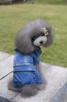Usine gros chien vêtements jeans jecket manteau 4 pieds famle girl chien