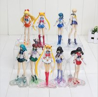 Vendita calda 15cm Anime Sailor Moon Tsukino Usagi Hino Rei Mercury Ami Action Figure Toy in PVC