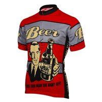 2017 Mens Retro Cycling Jersey classic beer Bike Wear Clothe...