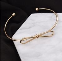 Brazaletes del brazalete del nudo del lazo de la moda Brazaletes abiertos del brazalete del brazalete