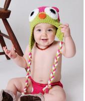 Winter Warm Baby Hoed Mode Zuigeling Caps Beanie Knit Kinderen Owl Cartoon Handcraft Haak Wollen Hoeden Warme Kids Hoeden