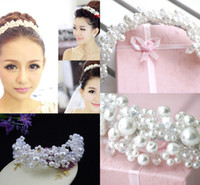 Pearls White Wedding Veils Bridal Headwear Wedding Accessori...