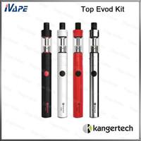 100% оригинал kanger evod комплект верхней 1,7 мл верхней сигарета 650mah заполнения Toptank с evod батареи 650mah верхней evod электронной сигареты комплекты