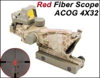 Тактический Trijicon ACOG 4x32 реального волокна Источник Красный подсветкой прицел с RMR Micro Red Dot прицел Python камуфляж