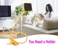 Universal Lazy Holder Bed Desktop Two Clips Moblie Stand Fle...