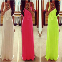 summer dress straight solid three colors novelty sleeveless ...