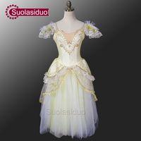 Gold Romantisches Ballett Tutu Kleid Mädchen Ballett Tutu Kleid Weiß Romantische Tutu Kleid Frauen De Danse Kinder SD0008D