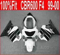 Motocicleta peças de carenagem preto branco + 7 Presentes para Honda 99 00 CBR600 F4 bodykit CBR 600 F4 1999 2000 carenagens kit SGOX