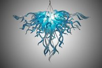 Lamps 100% Mouth Blown Borosilicate Murano Glass Chandeliers Pendant Lights Art Style LED Light Home Made Chandelier