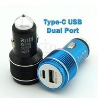Type C USB Dual Port Car Charger Life Hammer Car Cargering f...