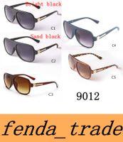 NOVA 2017 Marca Designer Homens Mulheres Retro Flat Top Óculos De Sol Acetato Do Vintage Lente Sombreada Fina Óculos de Sombra 9012 lente de Alta qualidade MOQ = 10