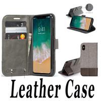 Étui portefeuille en cuir avec fente pour carte Flip Stand Cover Cover pour Samsung Note 8