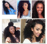 Pelucas llenas del cordón del pelo humano de la onda del cordón 6A liberan las pelucas llenas del cordón del pelo de la Virgen brasileña sin cola para las mujeres negras