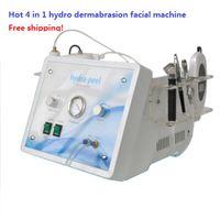 4 в 1 в 1 алмазной дермабразии гидродермабразия ультразвуковой скруббен кожи скруббен кислородный кожурный станок с высококачественным воздушным насосом стабильный поток воды