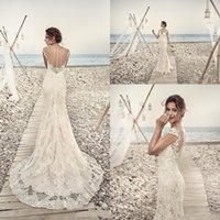 2017 Modern Arabic Mermaid Sheath Wedding Dresses Illusion C...