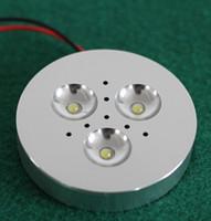 3x3W LED dimmerabili Sotto luce del Governo Puck luce per l'illuminazione cucina calda superficie / bianco freddo