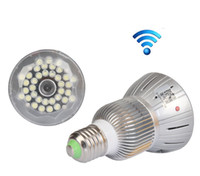 Wifi camera TF card E27 Bulb Lamp CCTV Security Hidden Nanny...