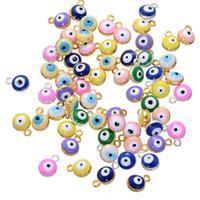 1000pcs 1.4 * 9 * 7mm Amulettes turques runes Perles Charms Alliage Enamel Turquie Turquie Evil Eye Charms Pendentif pour bijoux DIY ACH0003