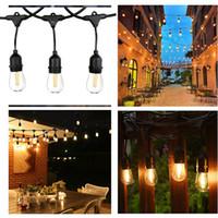 lumière LED string lumière cour de 10M avec 10 Wholesales porte-lampe étanche IP65 lampe lumière de vacances restaurant