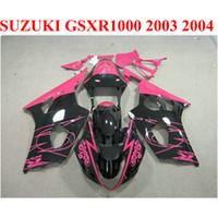 Nieuwe aftermarket Set voor Suzuki GSX-R1000 K3 K4 2003 2004 Red Black Plastic Fairing Kit GSXR1000 03 04 Verkleiningen CQ37