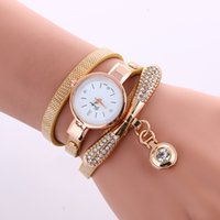 Fashion Luxury Brand Watch For Women Gold Rhinestone Bracele...