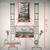 "21. 6"" in big glass bong 3 layers spring perc 1 layers sp..."