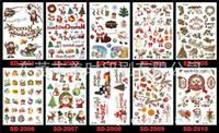 Autocollants de tatouage imperméable à l'eau de Noël 36 garçons tatouages temporaires enfants enfants jouet de cadeau de Noël cadeaux de Noël