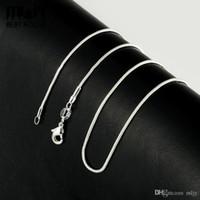 سلاسل عامة 925 الفضة قلادة الأزياء ثعبان سلسلة قلادة مجوهرات بسيطة 1.2 ملم القلائد 16 18 20 22 24 26 28 بوصة