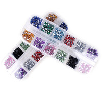 12 Farben runden Acryl Strass für Nägel 3D Nail Art Dekorationen Strass Nagel Tipps Nail Salon Beauty