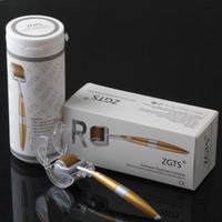 ZGTS 더 마 롤러 (192 티타늄 합금 포함) 마이크로 바늘 셀룰 라이트 안티 에이징 에이지 모공용 스킨 롤러 DHL 무료 수정