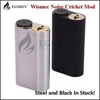 100% Original Wiscec Noisy Cricket Mod 18650 Batteriknapp Hybrid Adapter Bottom Box Mods för RBA RDA RTDA RTA Atomizer Clearance Stock