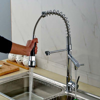 Wholesale And Retail Spring Kitchen Faucet Dual Spout Swivel...