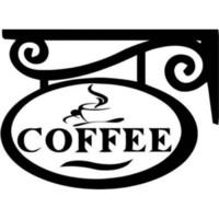 Coffee Cup Car Window Decor Vinyl Decal Sticker