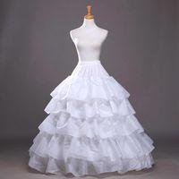 Heißer Verkauf im Lager Vier Hoops fünf Schichten A-Line Petticoats Beleg Braut Krinoline für Ballkleider Quinceanera / Hochzeit / Abendkleider CPA210