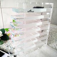Acrylic lash tiles Box storge individual lash holder with gr...