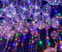 Işık Up Oyuncaklar LED Dize Işıklar Flaşör Aydınlatma Balon dalga Topu 18 inç Helyum Balonlar Noel Cadılar Bayramı Dekorasyon Oyuncaklar